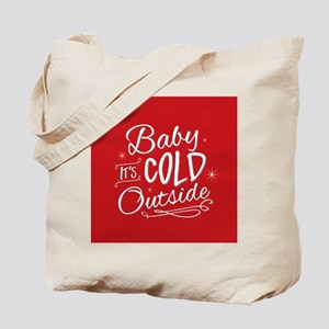 Baby It's Cold Outside [red] Tote Bag